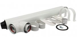 STOUT Комплект универсальный коаксиальный с ветрозащитой L=850 мм, DN 60/100