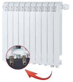 Global VOX R 500 Алюминиевый радиатор 10 секций нижнее подключение