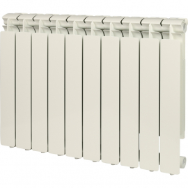 STOUT Bravo Ventil 500 нижнее 10 секций радиатор алюминиевый (RAL9010)