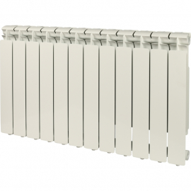 STOUT Bravo Ventil 500 нижнее 12 секций радиатор алюминиевый (RAL9010)