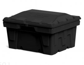 Polimer Group Ящик пластиковый 250л с крышкой, черный