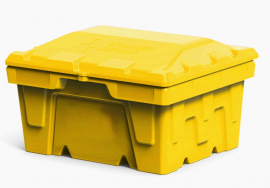 Polimer Group Ящик пластиковый 250л с крышкой, желтый