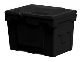 Polimer Group Ящик пластиковый 500л с крышкой, черный