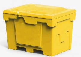 Polimer Group Ящик пластиковый 500л с крышкой, желтый