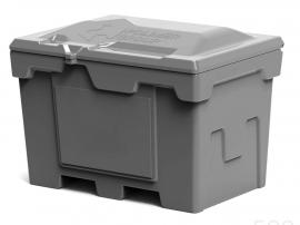Polimer Group Ящик пластиковый 500л с крышкой, серый