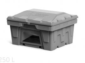 Polimer Group Ящик пластиковый 250л с крышкой и дозатором, серый
