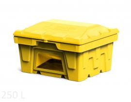 Polimer Group Ящик пластиковый 250л с крышкой и дозатором, желтый