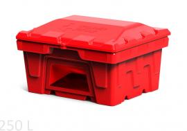 Polimer Group Ящик пластиковый 250л с крышкой и дозатором, красный