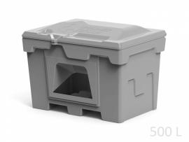 Polimer Group Ящик пластиковый 500л с крышкой и дозатором, серый