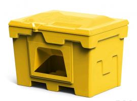 Polimer Group Ящик пластиковый 500л с крышкой и дозатором, желтый