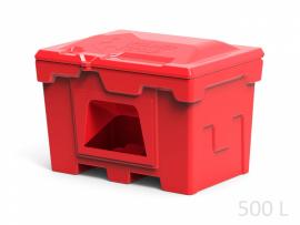 Polimer Group Ящик пластиковый 500л с крышкой и дозатором, красный