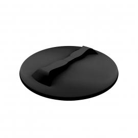 Polimer Group Крышка пластиковая 350мм с дыхательным клапаном, черная